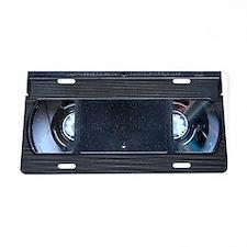 VHS TAPE Clutch Bag Aluminum License Plate