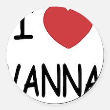 VANNA Round Car Magnet