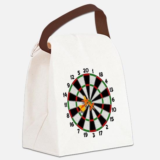 dartboard_sm Canvas Lunch Bag