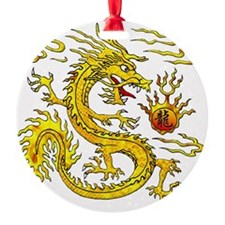 Golden Dragon Ornament