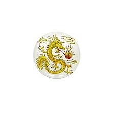 Golden Dragon Mini Button