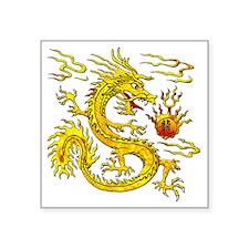 """Golden Dragon Square Sticker 3"""" x 3"""""""