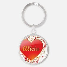 Alicia-Valentines Round Keychain