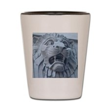 Leering Lion Shot Glass