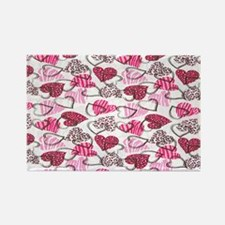 Allover Valentine Hearts copyy Rectangle Magnet