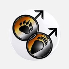 """man on man Bear pride with paws 3.5"""" Button"""