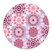 petals Round Car Magnet