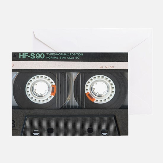Cassette Tioletry Bag Greeting Card