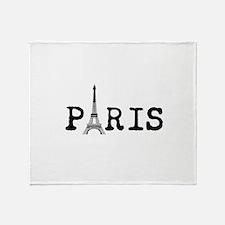 PARIS Eiffel Tower Throw Blanket