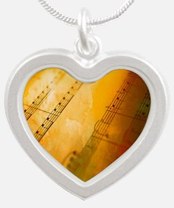 sheet music watercolor Necklaces