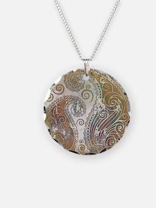 vintage color paisley Necklace
