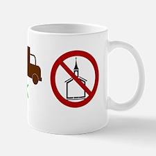 10x3_sticker with ok and church Mug
