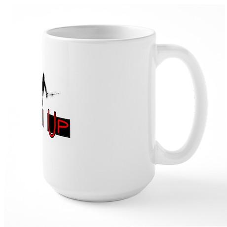Wake Up1 for White Large Mug