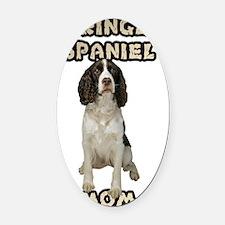 Springer Spaniel Mom Oval Car Magnet