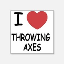"""THROWING_AXES Square Sticker 3"""" x 3"""""""