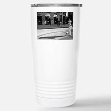 postcard shadow hat Stainless Steel Travel Mug