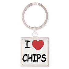CHIPS Square Keychain