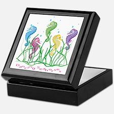Whimsical Dancing Seahorses Design Keepsake Box