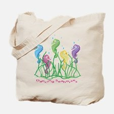 Whimsical Dancing Seahorses Design Tote Bag