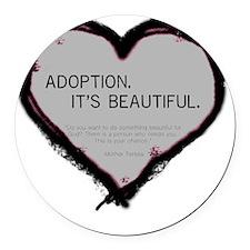 adoption beautiful 2 Round Car Magnet