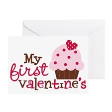 1stValentinesCupcake Greeting Card