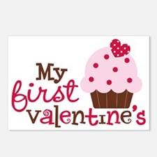 1stValentinesCupcake Postcards (Package of 8)