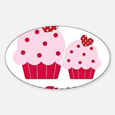 CupcakeSweetie2LittleSister Sticker (Oval)