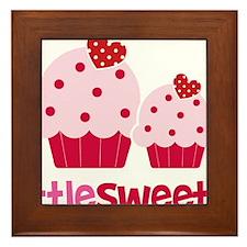 CupcakeSweetie2LittleSister Framed Tile