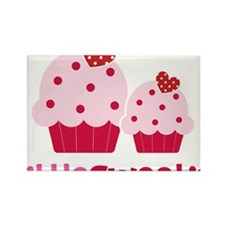 CupcakeSweetie2LittleSister Rectangle Magnet