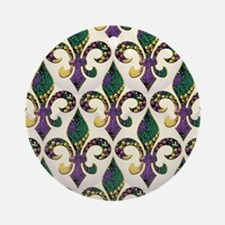 FleurMGbeadsJPFlipf Round Ornament