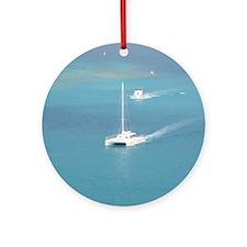 Winters Fun/Aruba Round Ornament