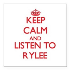 Keep Calm and listen to Rylee Square Car Magnet 3""