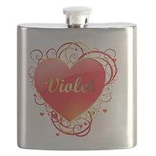 Violet-Valentines Flask