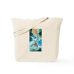 Artful Crop Circle Designer Tote Bag