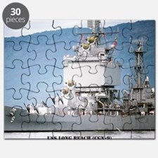 lbeach large framed print Puzzle