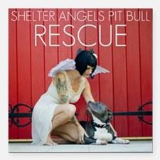 "Red Rescue Square Car Magnet 3"" x 3"""