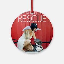 Red Rescue Round Ornament