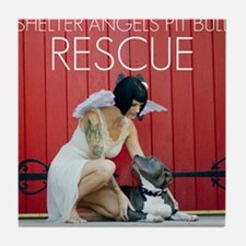 Red Rescue Tile Coaster
