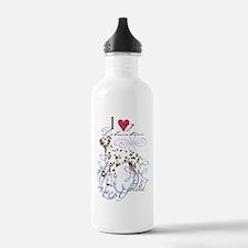 Dalmatian-key2 Water Bottle