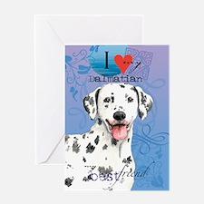 Dalmatian-kindle Greeting Card