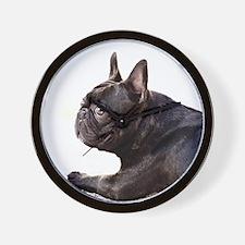 french bulldog a Wall Clock