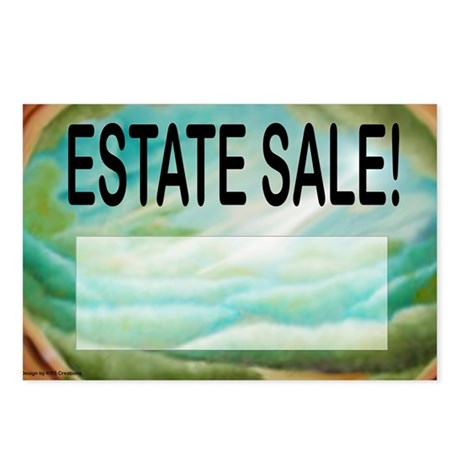 estatesalesign Postcards (Package of 8)