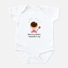 Mommy Drinks...Girl Infant Bodysuit