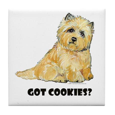Cairn Terrier - Got Cookies? Tile Coaster
