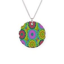 lacy Necklace Circle Charm
