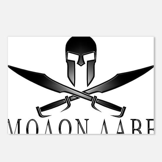 Spartan_Helmet__Swords_Cr Postcards (Package of 8)