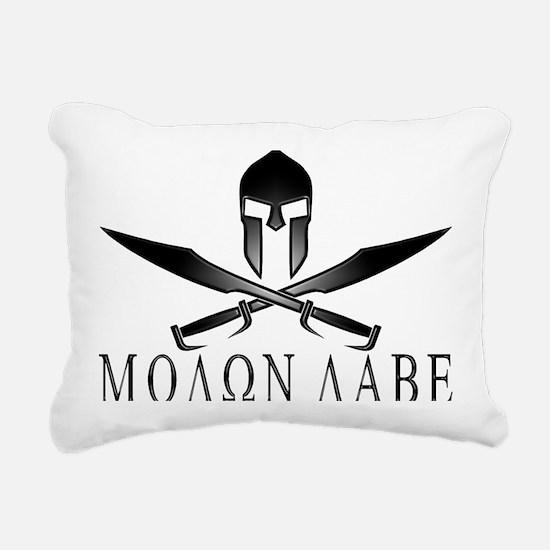 Spartan_Helmet__Swords_C Rectangular Canvas Pillow