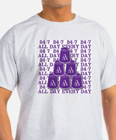24-7 every day, purple3 T-Shirt
