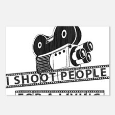 I Shoot People-Black with Postcards (Package of 8)