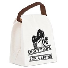 I Shoot People-Black with cam Canvas Lunch Bag